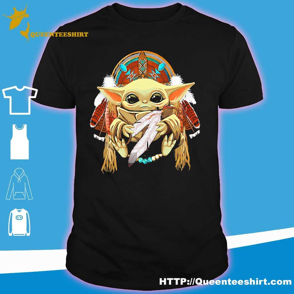 Baby Yoda hug Native shirt