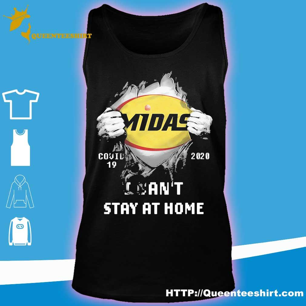 Blood inside me Midas covid-19 2020 I can't stay at home s tank top