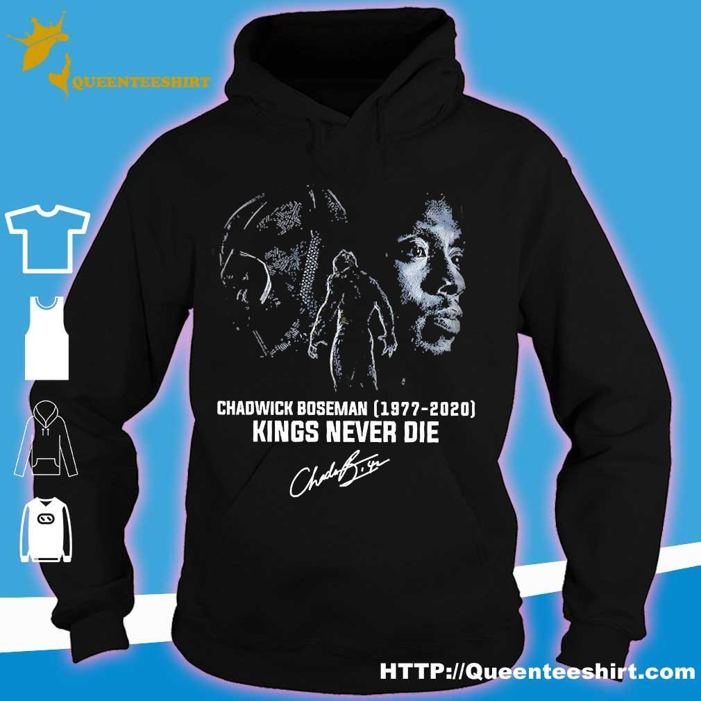 Chadwick Boseman 1977 2020 kings never die signature s hoodie