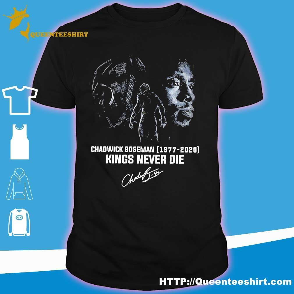 Chadwick Boseman 1977 2020 kings never die signature shirt