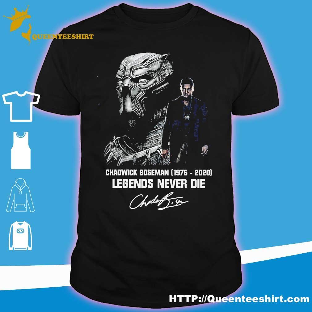 Chadwick Boseman 1977 2020 legends never die signature shirt