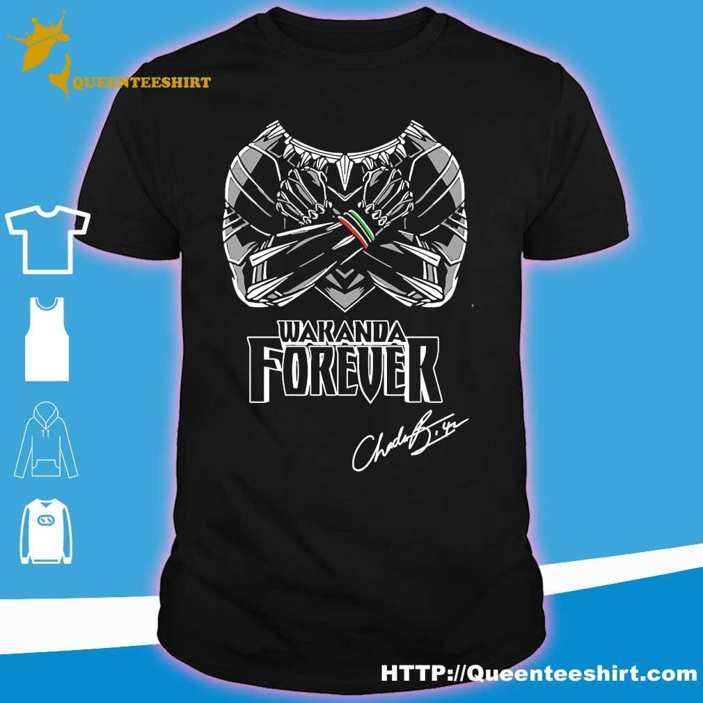 Chadwick Boseman Black Panther Wakanda Forever signature Shirt