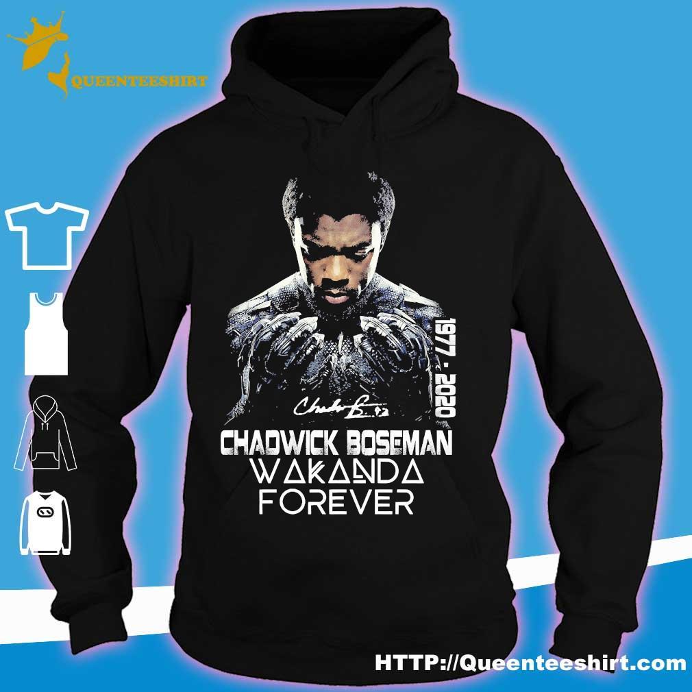 Chadwick Boseman Wakanda Forever 1977 2020 signature s hoodie