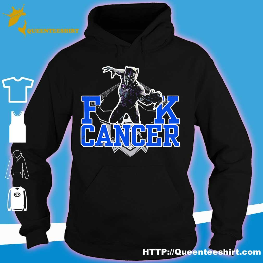 Fuck Cancer Rip Black Panther Chadwick Boseman Shirt hoodie