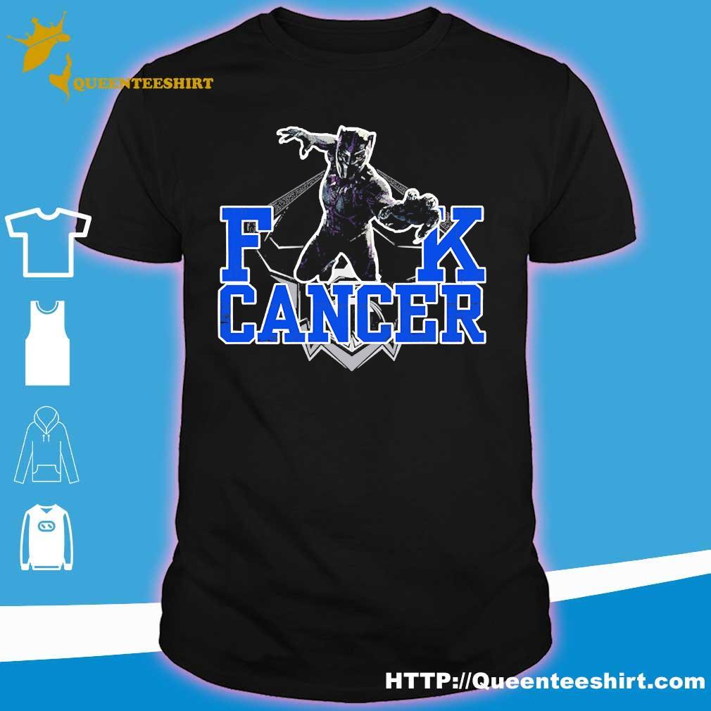 Fuck Cancer Rip Black Panther Chadwick Boseman Shirt