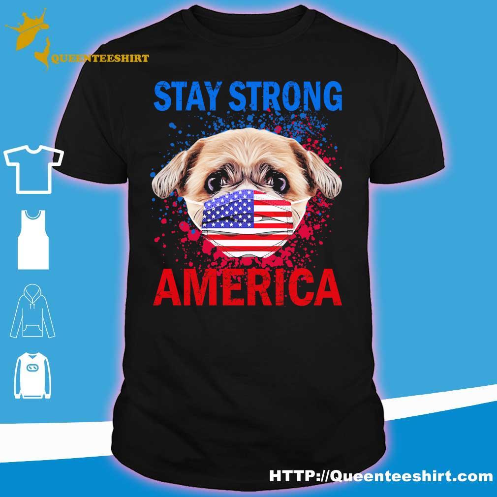 Shih Tzu face mark stay strong america shirt