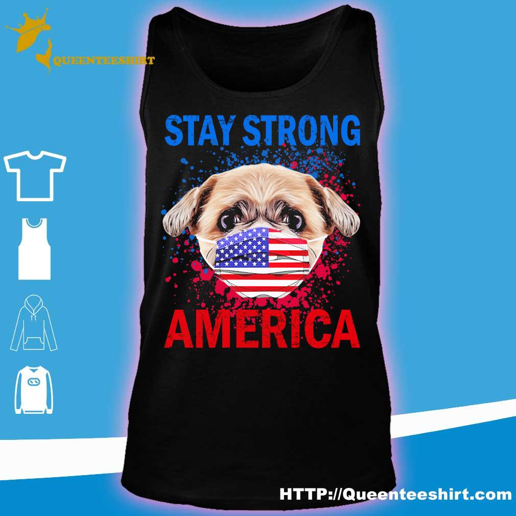 Shih Tzu face mark stay strong america s tank top