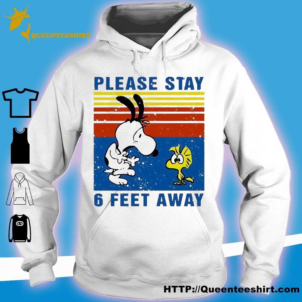 Snoopy and Woodstock please stay 6 feet away vintage s hoodie