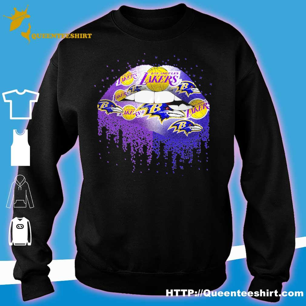 Los Angeles Lakers and Baltimore Ravens Lips s sweater