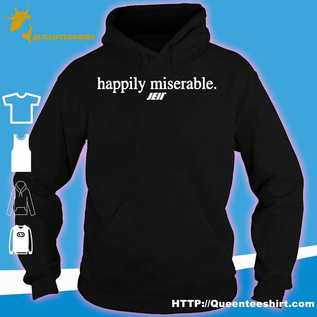 Official Happily miserable julian edelman s hoodie