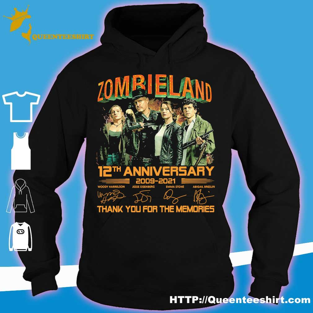 Zombieland 12th anniversary 2009 2021 thank You for the memories signatures s hoodie