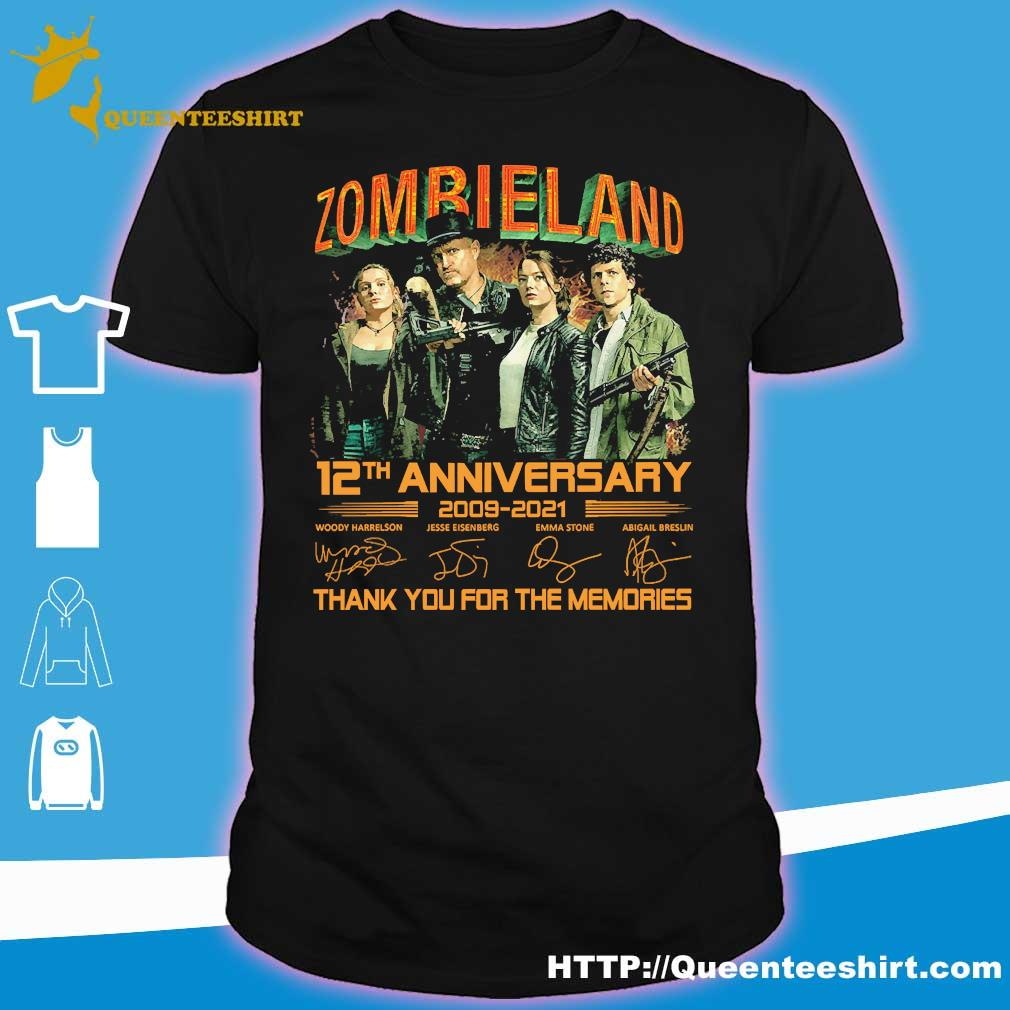 Zombieland 12th anniversary 2009 2021 thank You for the memories signatures shirt