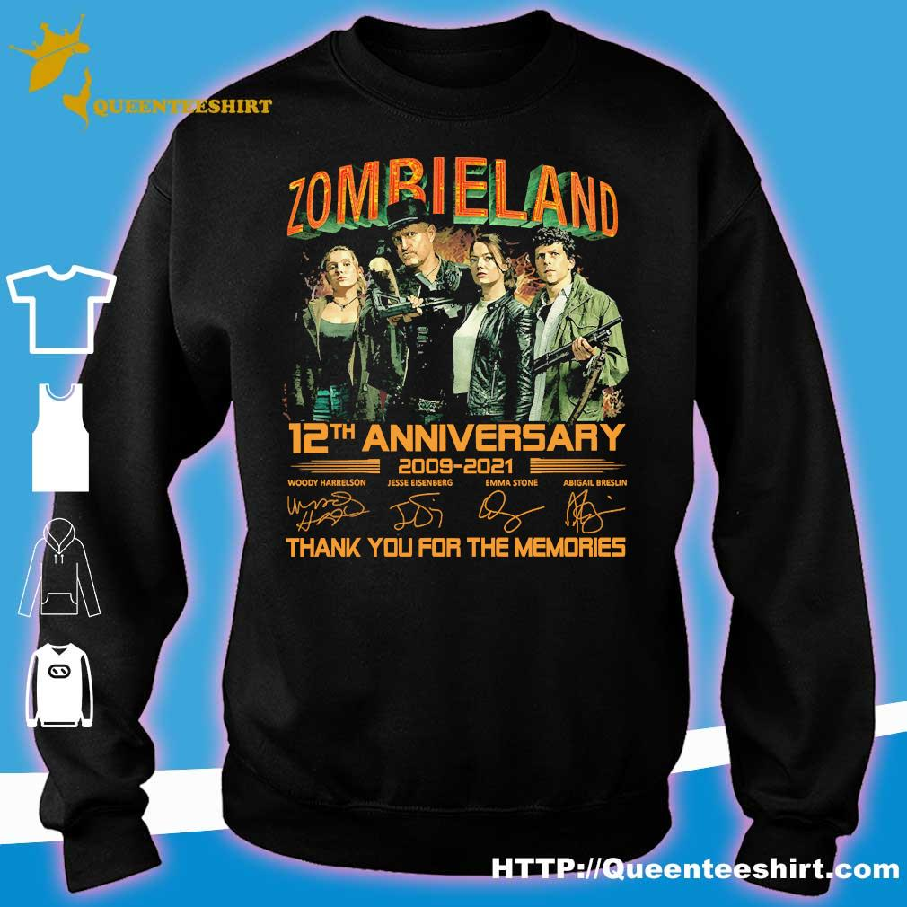 Zombieland 12th anniversary 2009 2021 thank You for the memories signatures s sweater