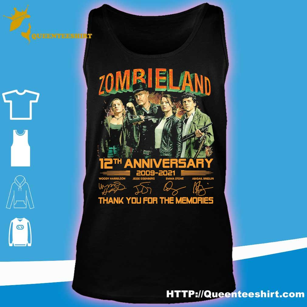 Zombieland 12th anniversary 2009 2021 thank You for the memories signatures s tank top