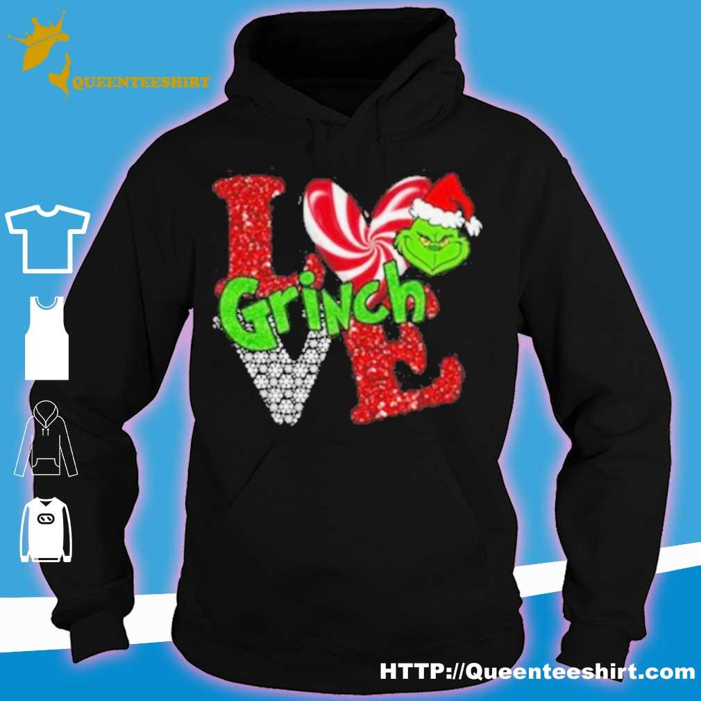 Official Merry Christmas Grinch Santa Love Shirt hoodie
