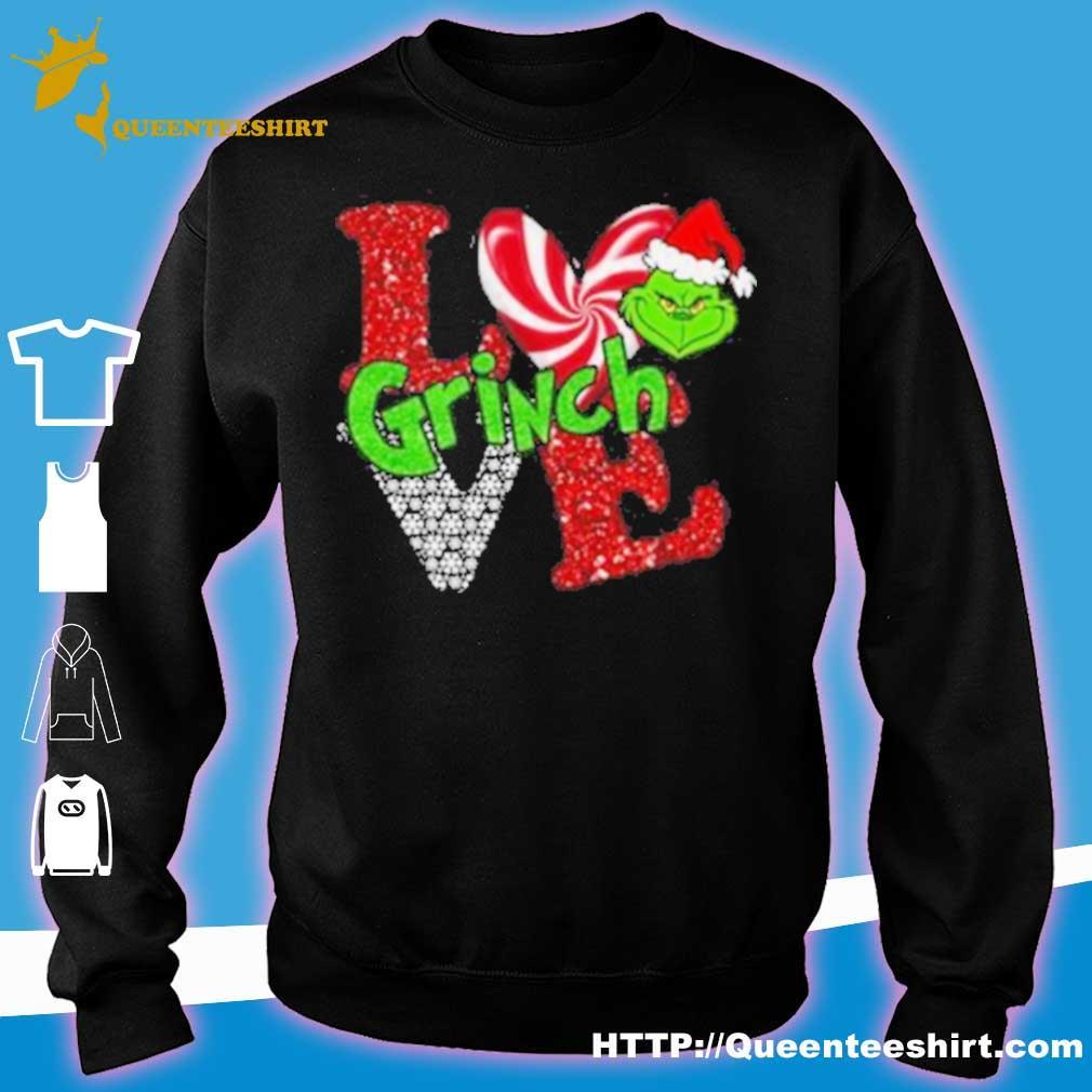 Official Merry Christmas Grinch Santa Love Shirt sweater