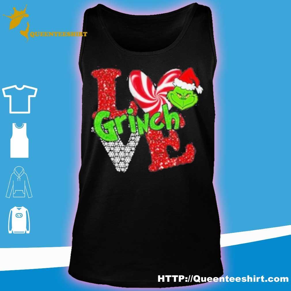Official Merry Christmas Grinch Santa Love Shirt tank top