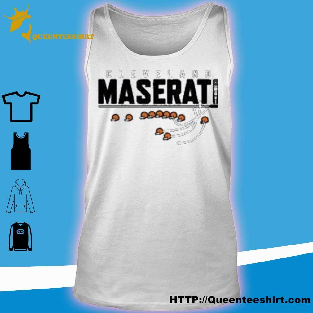 Official Cleveland Maserati Shirt tank top